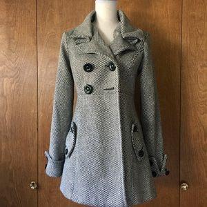 Jolt Striped Pea Coat